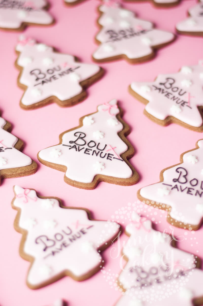 Pink Christmas Tree Cookies Archives Juniper Cakery Cakes And Sweet Treats