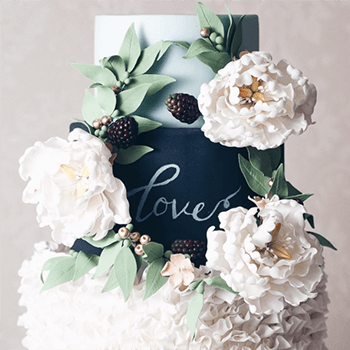 Chalkboard wedding cake by Juniper Cakery