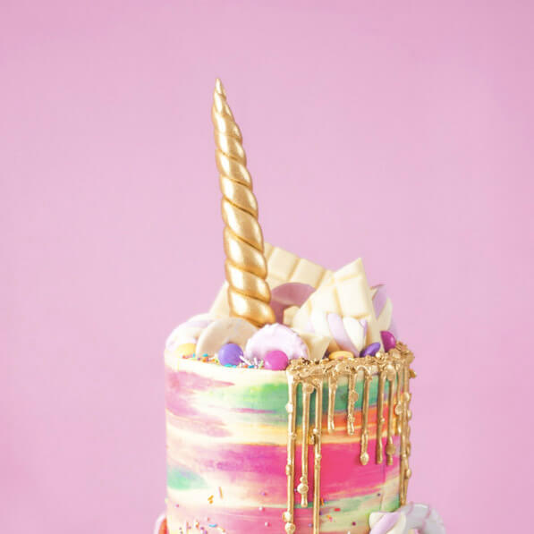 Buttercream unicorn cake by Juniper Cakery
