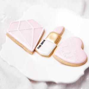 Bobbi Brown cookies by Juniper Cakery