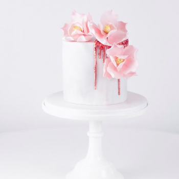 Pretty magnolia party cake by Juniper Cakery