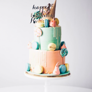 Fun ice cream parlour themed cake by Juniper Cakery