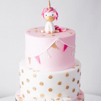 Unicorn birthday cake by Juniper Cakery