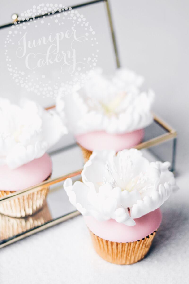 Peony cupcakes by Juniper Cakery