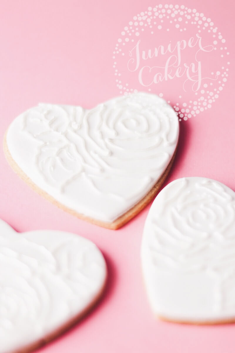 Heart cookies by Juniper Cakery