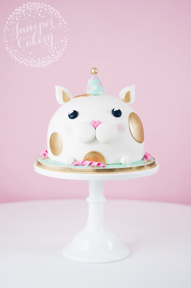 Can birthday cake by Juniper Cakery
