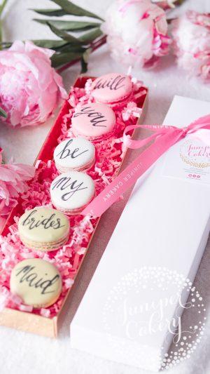 Bridesmaid Proposal Macarons via Juniper Cakery