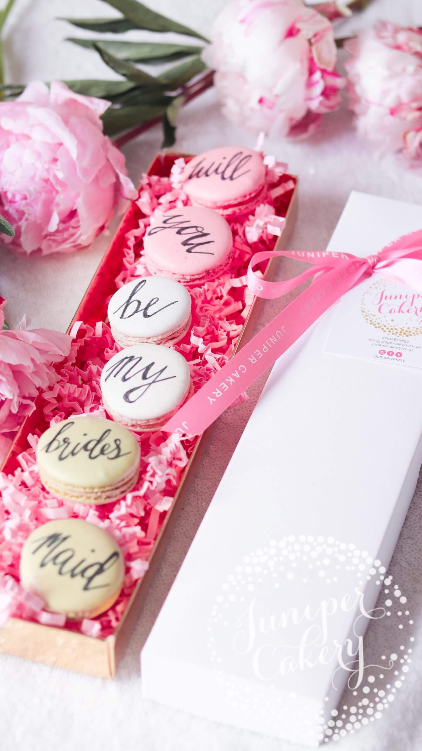 Bridesmaid Proposal Macarons via Juniper Cakery