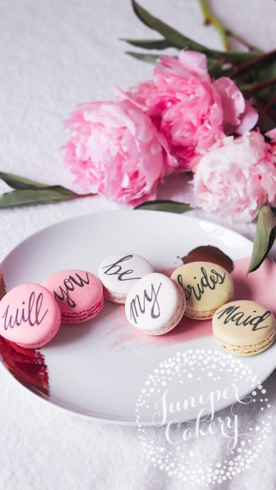 Bridesmaid Proposal Macarons from Juniper Cakery