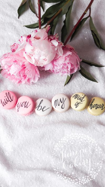 Maid of Honour Proposal Macarons from Juniper Cakery