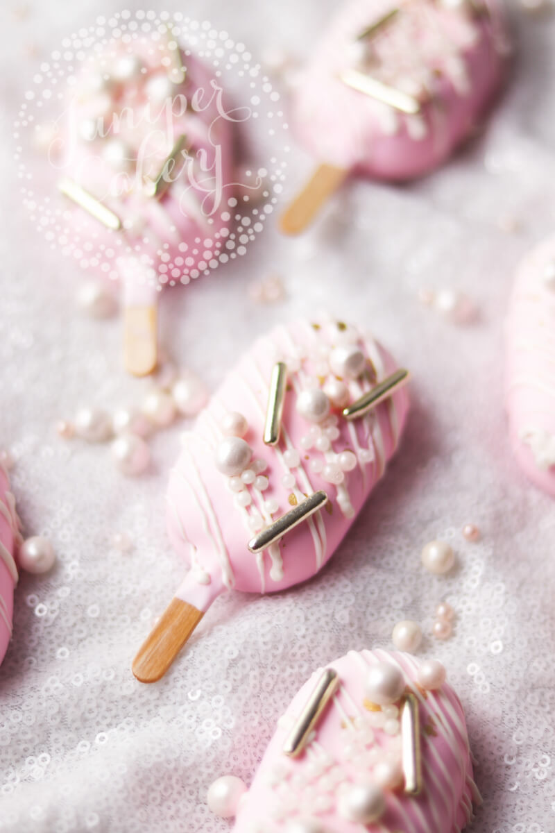 Baby pink cake pops by Juniper Cakery
