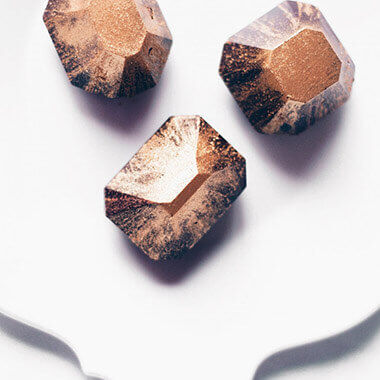 Dark chocolate jewels by Juniper Cakery