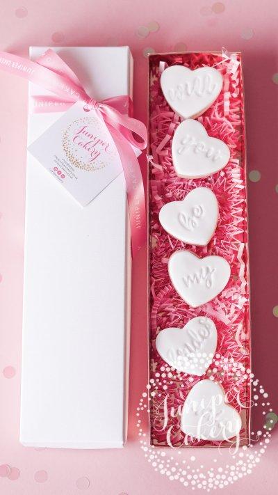 Cute bridesmaid proposal cookies by Juniper Cakery