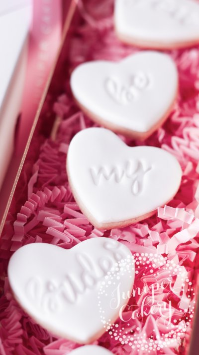 Chic bridesmaid proposal cookies by Juniper Cakery