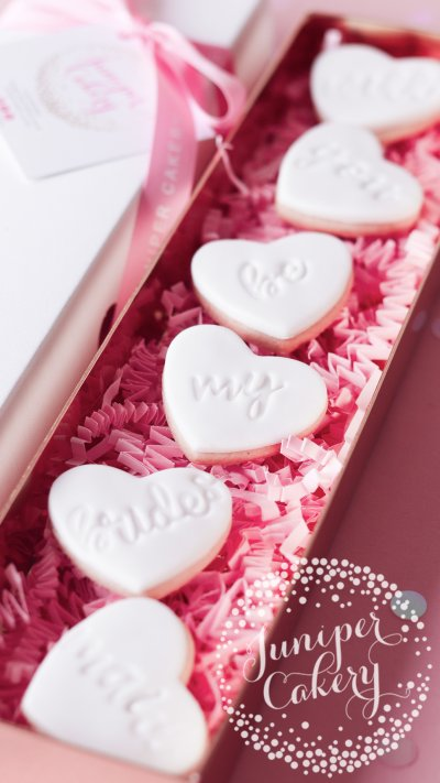 Pretty bridesmaid proposal cookies by Juniper Cakery