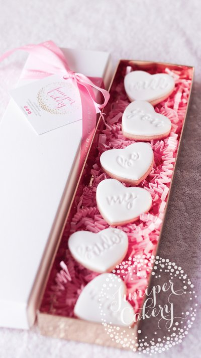 Lovely bridesmaid proposal cookies by Juniper Cakery