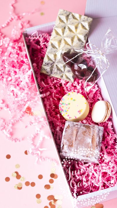 Chocolate lovers hamper by Juniper Cakery