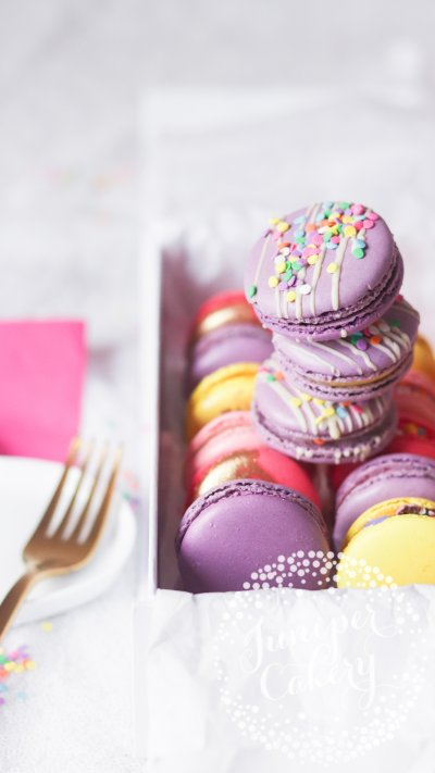 Unicorn macarons by Juniper Cakery