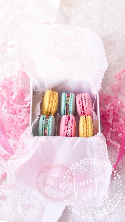 Sweet macaron gift box from Juniper Cakery