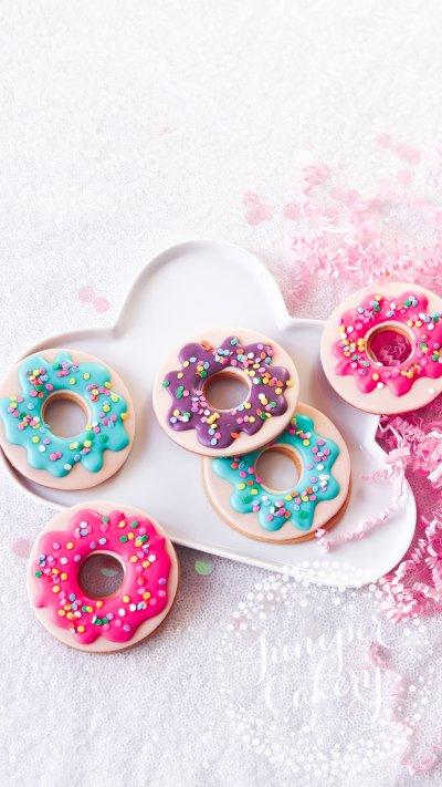 Rainbow Sprinkle Doughnut Cookies via Juniper Cakery