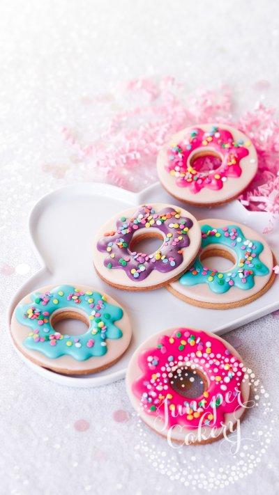 Rainbow Doughnut Cookies by Juniper Cakery