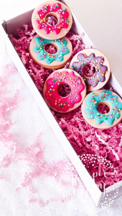 Rainbow Doughnut Cookies via Juniper Cakery
