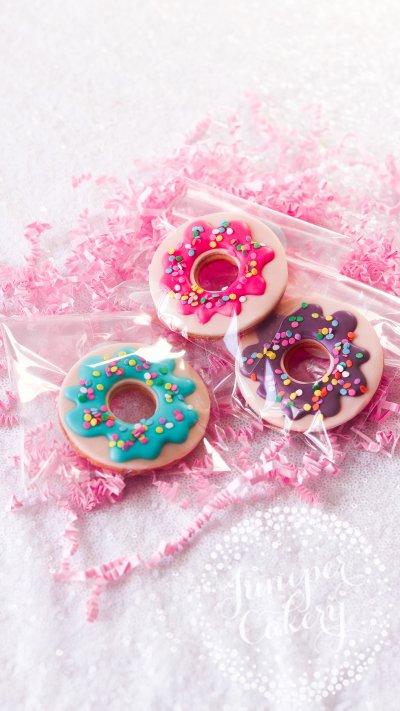 Rainbow Sprinkle Doughnut Cookies by Juniper Cakery