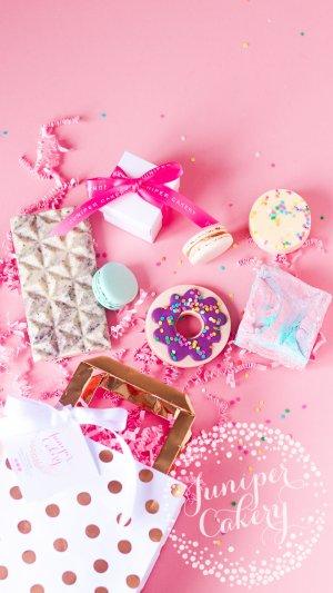 Rainbow sprinkle treat bag by Juniper Cakery