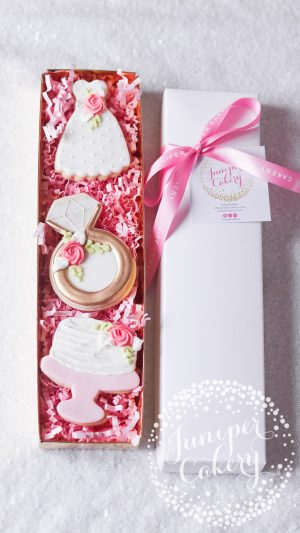Bridal Shower cookies by Juniper Cakery