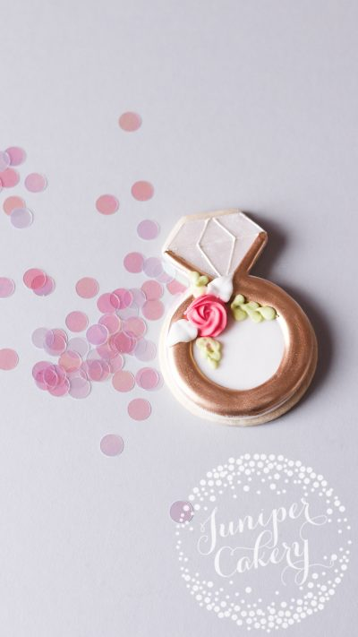 Cute Bridal Shower cookie by Juniper Cakery
