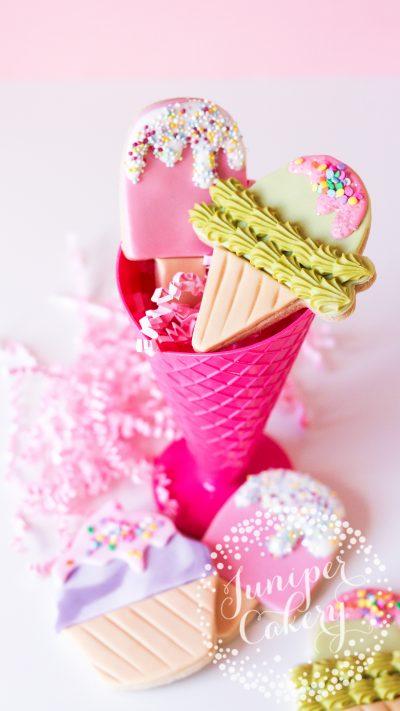 Fun ice cream cookies by Juniper Cakery