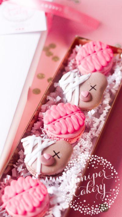 Fun Halloween macarons by Juniper Cakery