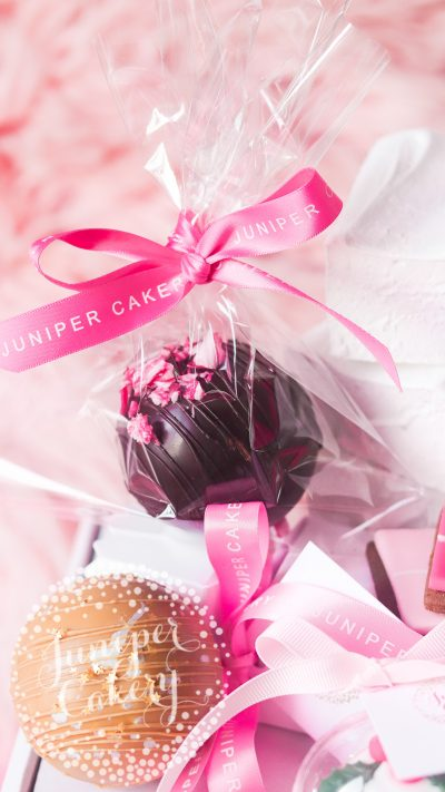Cute Christmas family hamper by Juniper Cakery