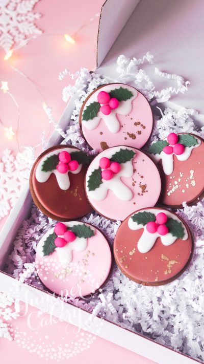 Christmas Pudding Cookies by Juniper Cakery