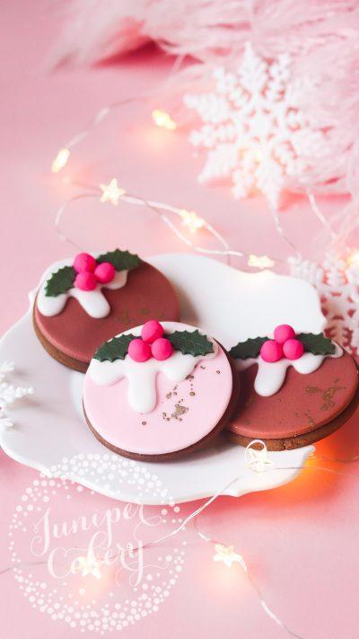 Cute Christmas cookies by Juniper Cakery