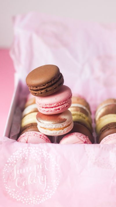 Classic macarons for UK delivery by Juniper Cakery