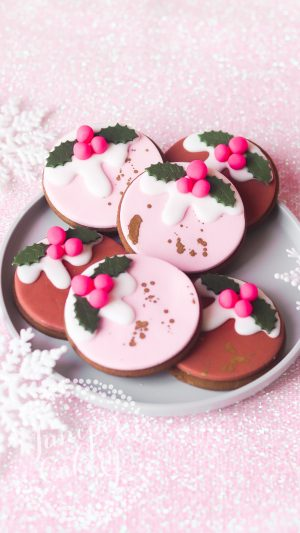 VEGAN Christmas Pudding Gingerbread Cookies by Juniper Cakery