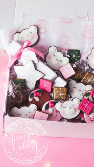 Family cookie hamper by Juniper Cakery