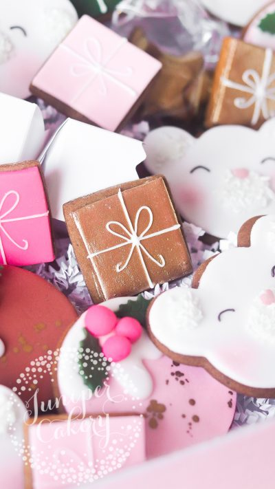 Cookie hamper for Christmas by Juniper Cakery