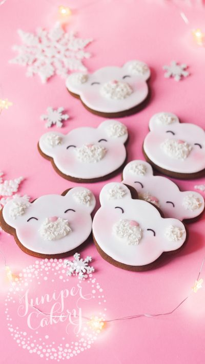 Cute Christmas cookies UK delivery by Juniper Cakery
