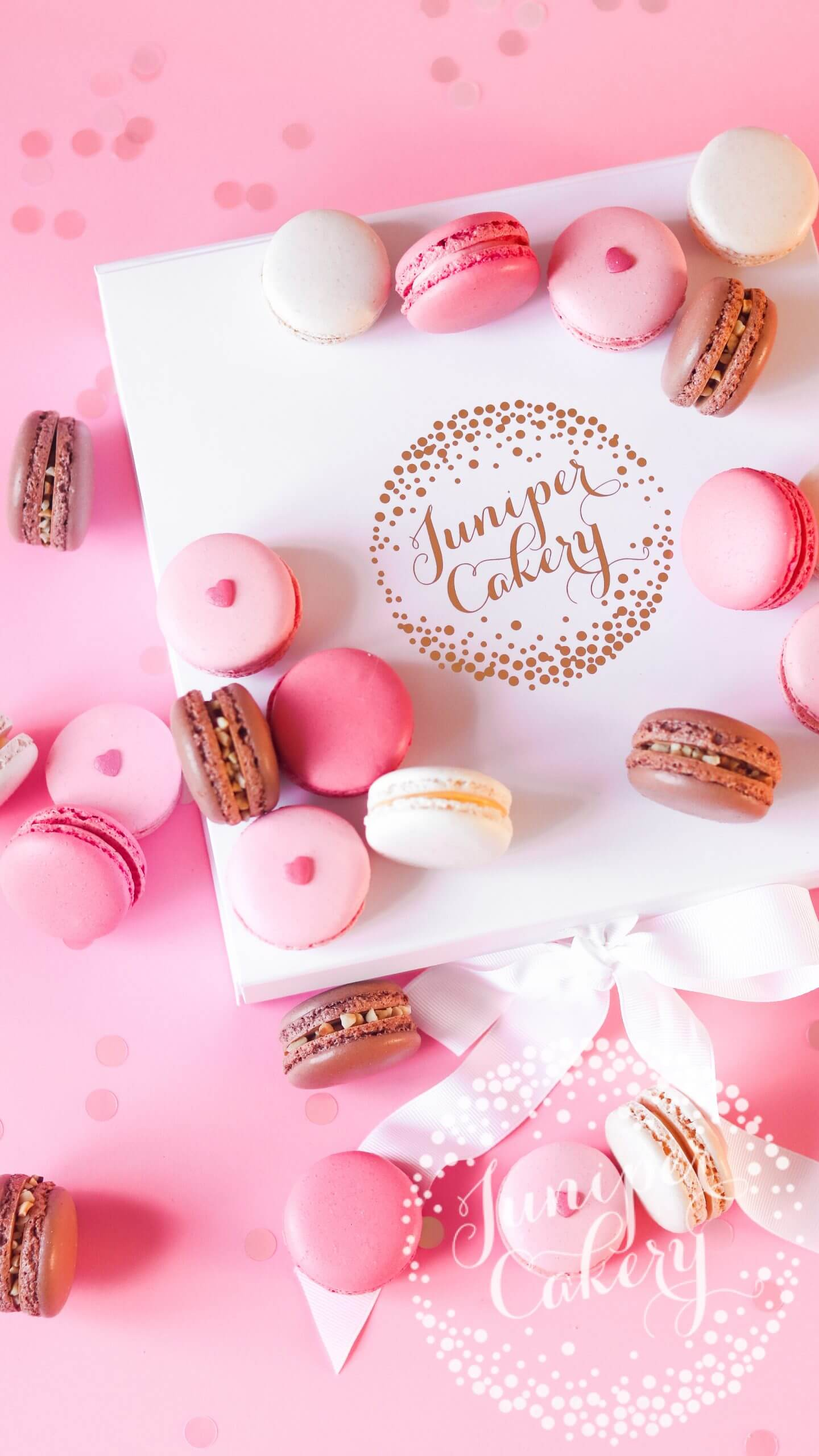 Pretty Valentine Macarons by Juniper Cakery